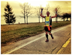 Here's a happy pic of Dave killing the 10K in 49:-something.
